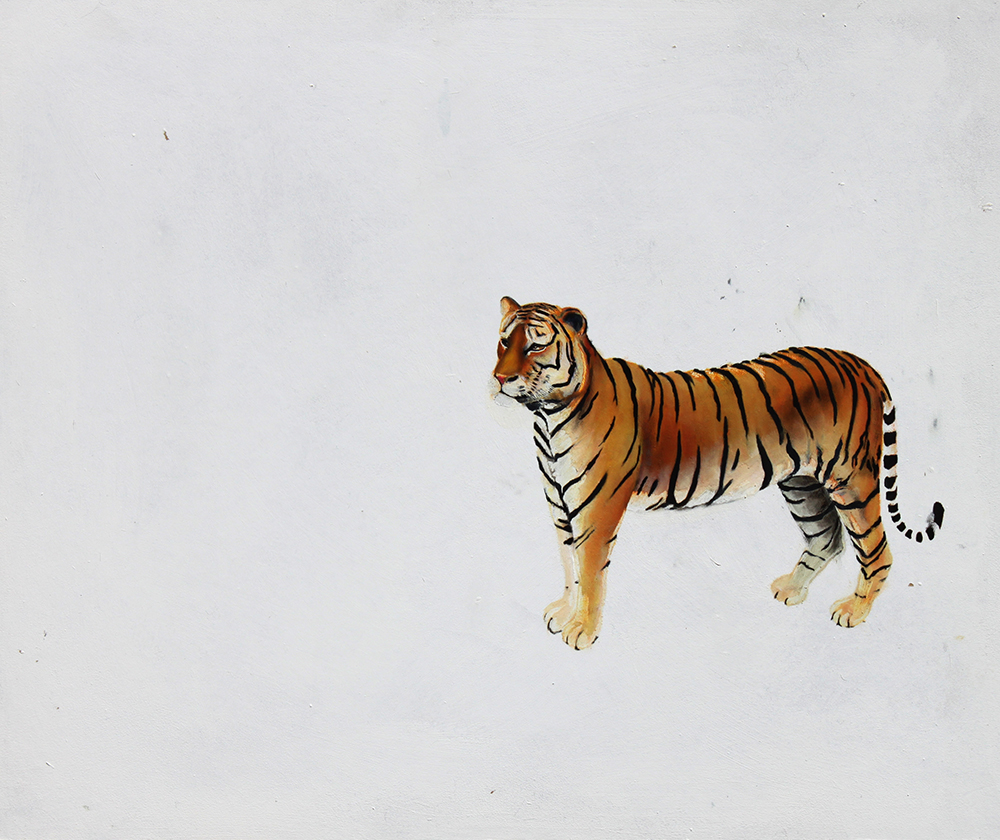 Tiger_2010_80x70cm_oil on wood,